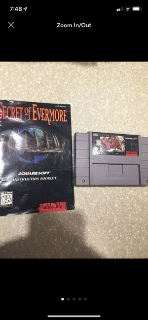 Secret of Evermore for Super Nintendo (SNES) for Sale in Bowie, MD