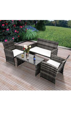 New 4 piece outdoor wicker furniture for Sale in Winter Park, FL