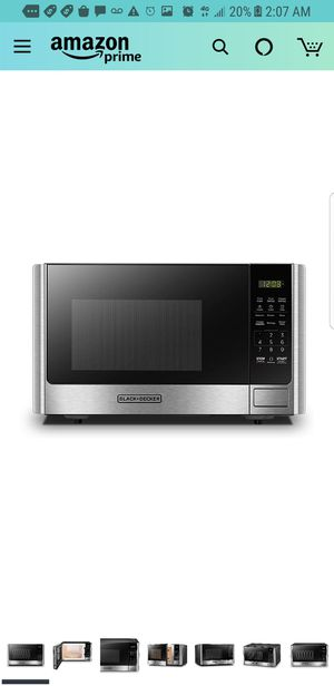 BLACK+DECKER Digital Microwave Oven with Turntable Push-Button Door,Child Safety Lock,900W,0.9 cu.ft,Stainless Steel for Sale in City of Industry, CA