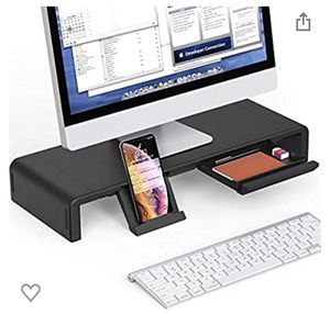Foldable Black Computer/Desktop Monitor Stand for Sale in Austin, TX
