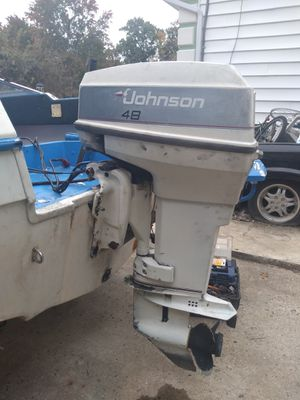 Johnson 48hp spl outboard motor for Sale in Lanham, MD