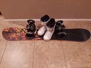 Burton snowboard set for Sale in Oak Hills, CA