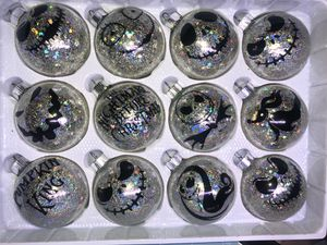 The Nightmare Before Christmas Glass Ball holographic Christmas Ornaments for Sale in Phoenix, AZ
