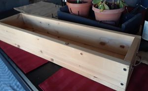 Natural Smooth Wood Planter Centerpiece with Handles for Sale in Santee, CA