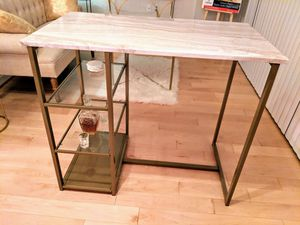 Marble & Brass Bar Table for Sale in Washington, DC