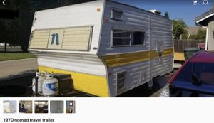 1970 Nomad Travel Trailer for Sale in Fowler, CA