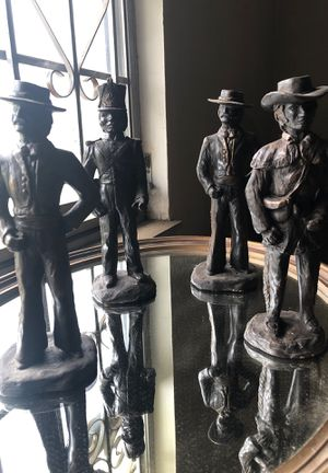 Collectible clay statues set of 4 for Sale in Houston, TX