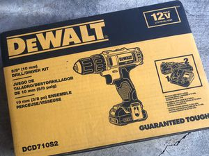 DEWALT DCD710S2 12V Max 3/8-Inch Drill Driver Kit BRAND NEW for Sale in Tigard, OR
