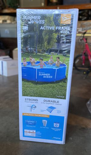 Summer waves 10x30 round metal frame above ground swimming pool for Sale in Visalia, CA