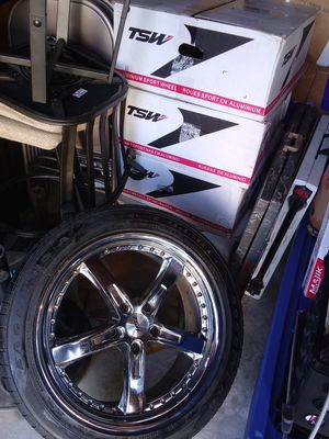 19 inch rims and tires for Sale in Houston, TX