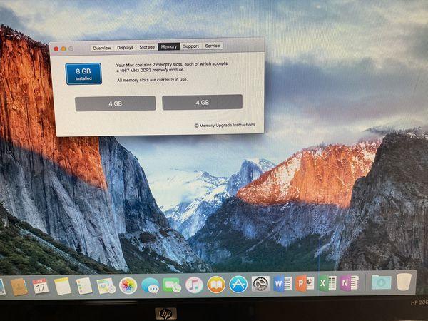 Mac mini Late 2009, Intel Core 2 Duo, 2.26 GHz, 8 GB RAM, 160 GB Hard Drive, Wireless Wifi, DVDRW, VGA Adapter, OSX El Capitan, Microsoft Office 2016