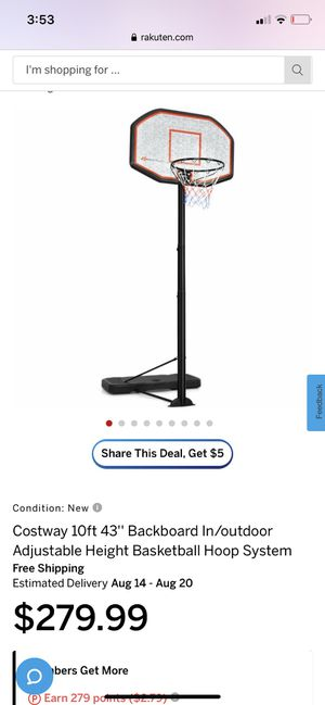 Basketball hoop system for Sale in Lake Elsinore, CA