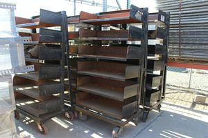 Metal Shelves Carts with Casters for Sale in Temecula, CA
