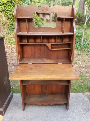 Antique Vintage Solid Wood Secretary Desk Reduced Need the Space Must Go this Weekend for Sale in Lithonia, GA