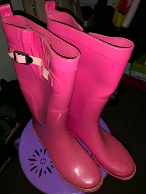 Pink Rain boots women's size 8 for Sale in Lancaster, TX