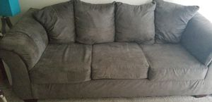 Gray suede Couch and love seat for Sale in Glen Burnie, MD