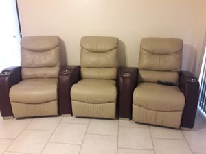 Recliner sofa theatre sectionsl for Sale in Cooper City, FL