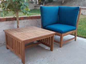 Patio Chair / Corner Chair Acacia Solid Wood W/ Cushion Brand New for Sale in City of Industry,  CA