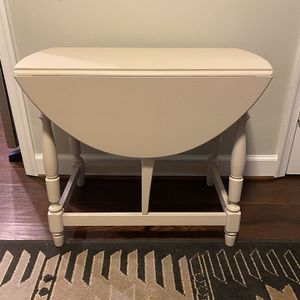 Vintage Statton Drop Leaf Table Solid Hardwood End Table Side Table Small Coffee Table Hand Painted for Sale in Fairfax, VA