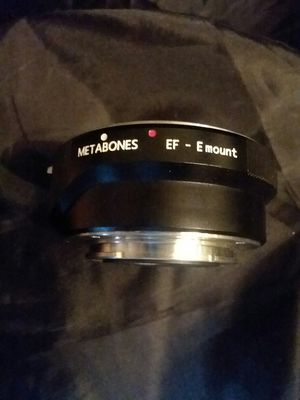 Metabones EF_E mount canon to sony for Sale in Irving, TX