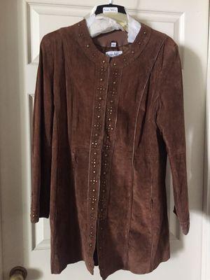 Pamela McCoy brown women's suede coat size L for Sale in Los Angeles, CA