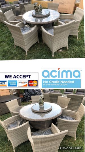 Patio dining table set with 6 chairs for Sale in Riverside, CA