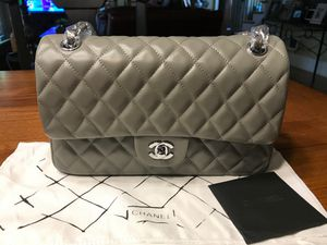 Chanel Leather Double Flap light Grey Bag for Sale in Kennesaw, GA