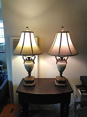 Twin Pair of Antique Style Table Lamps for Sale in Long Beach, CA
