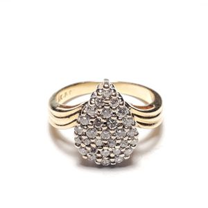 Estate 14kt Yellow Gold Diamond Cluster Ring for Sale in Winston-Salem, NC