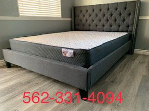 💥New Blue/Gray Queen Bed w Mattress Included💥 for Sale in San Jose, CA