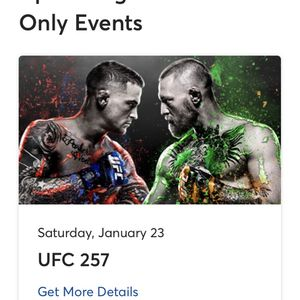 1 Car Ticket For UFC Drive In for Sale in Fontana, CA