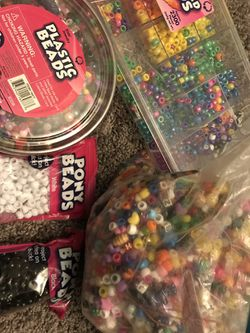 10 LBS of Colorful Assorted Beads / Kandi Beads / Kids Crafts for Sale in North Caldwell,  NJ