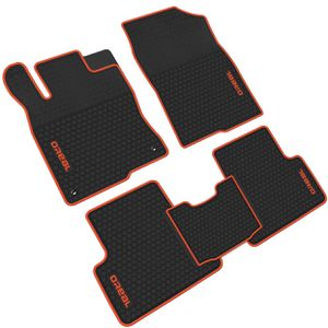 iallauto All Weather Floor Liners Custom Fit for Honda Civic 10th 2016 2017 2018 2019 Heavy Duty Rubber Car Mats Vehicle Carpet Odorless-Black Red for Sale in Brighton, CO