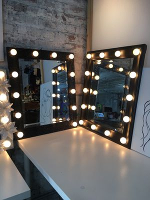 Black vanity mirrors $150 each for Sale in New York, NY