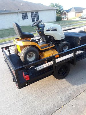 Trailer and mower. for Sale in Arlington, TX
