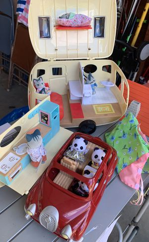 Calico Critters Camper & Car w/tent for Sale in Acushnet, MA