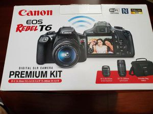 Canon DSLR EOS REBEL T6 with 2 lenses for Sale in Bellevue, WA