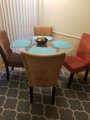 Glass Dining Table Set Must Pick Up - $150 for Sale in San Diego, CA