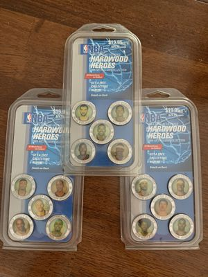 NBA 2005 Medallion Collection Sealed Price is for all three packages Pick up Riggs and Lindsay cash only no holds see all photos some wear on packagi for Sale in Chandler, AZ