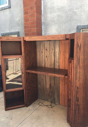 Corner Entertainment Unit -Oak for Sale in Rancho Cucamonga, CA