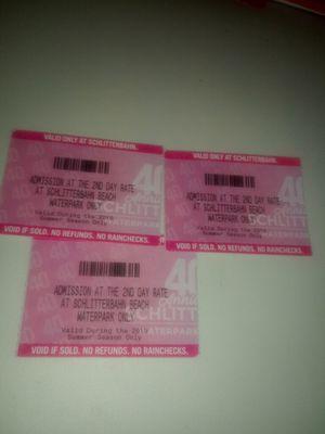Schlitterbahn tickets 2nd day pass for Sale in Mercedes, TX