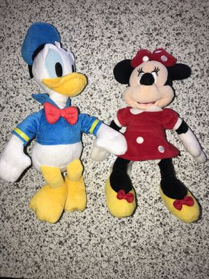 Minnie and Donald plushie for Sale in Ontario, CA
