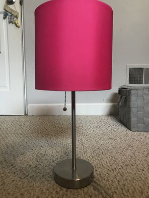 Hot pink table lamp for Sale in Villa Park, IL
