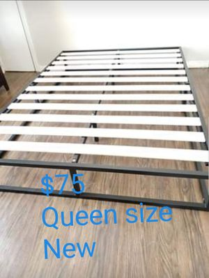 Platform bed frame Queen size. Brand new. Free delivery in Stockton. $75 for Sale in Stockton, CA