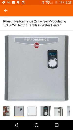 Rheem Performance 27 kw Self-Modulating 5.3 GPM Electric Tankless Water Heater for Sale in San Diego, CA