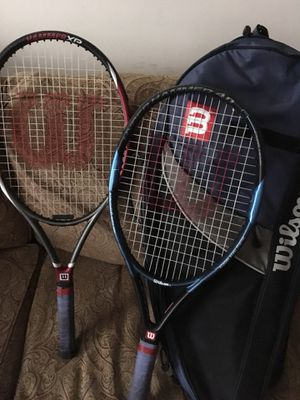 Two tennis rackets and one bag for Sale in High Point, NC