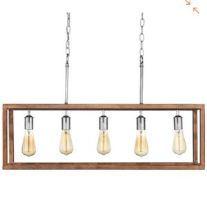 Home Decorators Collection Boswell Quarter Collection 5-Light Galvanized Island Chandelier with Painted Chestnut Wood Accents- NEW IN BOX for Sale in San Antonio, TX