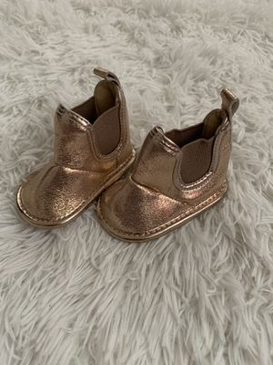 Rose Gold Baby Girl Boots-Brand New for Sale in Houston, TX