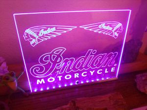 Make Offer!!! LED Indian Motorcycles Counter Display Sign for Sale in Mesa, AZ