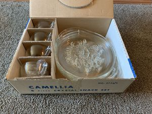 Antique Jeannette Glass Company Snack Set for Sale in Marysville, WA